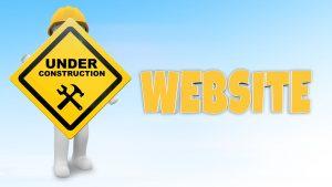 Webseite in Arbeit